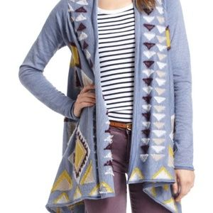 Anthropologie Fiets Voor 2 Aztec Sweater Shawl SM
